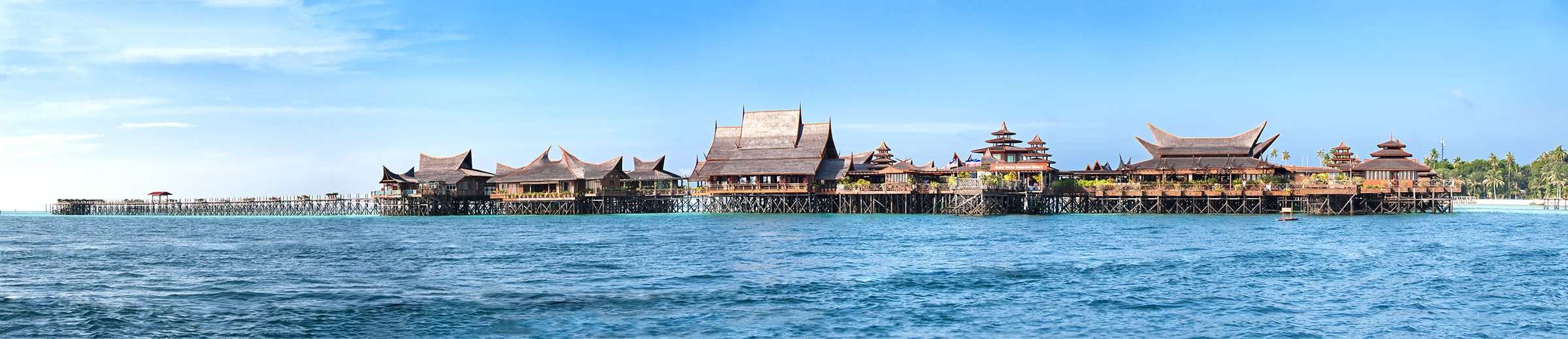 View of Mabul Water Bungalows