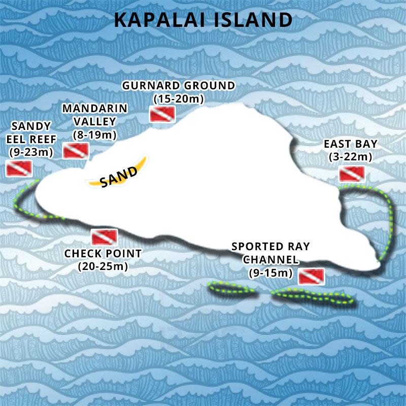 Diving Point of Kapalai Island