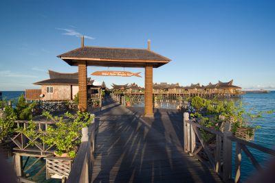 Entrance from land resort